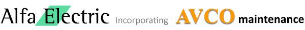Alfa Electric Ltd incorporating Avco Maintenance Logo