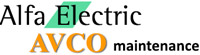 Alfa Electric Ltd incorporating Avco Maintenance Mobile Logo